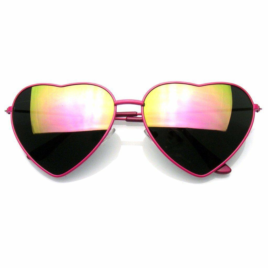 Elegante Montura Metálica Gafas de Sol Mujer Love Forma Corazón Gafas Gafas