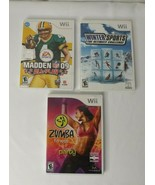 Lot Wii Winter Sports Zumba Madden 09 Tested Working - $16.45