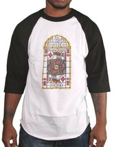 Deadline Stained Glass Deadly King Card Raglan Shirt image 1