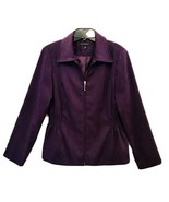Counterparts Vintage Womens Purple Zip Up Full Lined Side Elastic Blazer... - $18.67