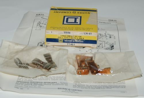 Square D 77461 Contact kit 9998 CA81 3 Pole Size 1 Type C Series A B