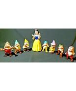 Adorable, Hand Painted Disney Snow White & the Seven Dwarfs Porcelain Fi... - $34.64
