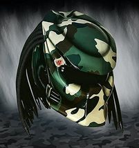 Predator Helmet Motorcycle Motive Green Camo Custom DOT / ECE Certified - $355.00