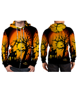 halloween haunted Zipper Hoodie Men's - $48.99+