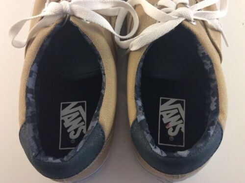 VANS Era 59 Shoes Khaki / Tan / Light Beige w/ Camo Collar Men's Size: 10