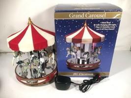 Mr Christmas Grand Carousel 15 Carols 15 Classics Animated Musical Display - $79.19
