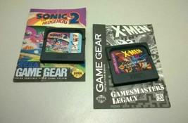 Sonic the Hedgehog 2 ~ X-Men Sega Game Gear w/booklet lot of 2 - $18.03