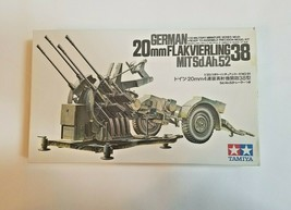 Tamiya GERMAN - 20mm FLAKVIERLING 38 Plastic Model Kit, 1/35 - NEW IN OP... - $33.66