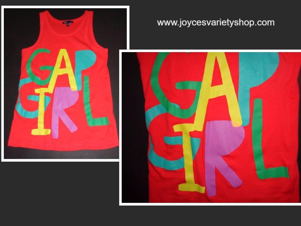 GAP GIRL Pink Multi Color Tank Top Gap Kids Sz 10 NWOT