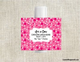 Lip Balm Baby Shower Bridal Shower Wedding Labels Party Favors Personalized - $3.96