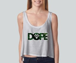 Dope Weed girly boxy tank top Funny and Music - $22.00