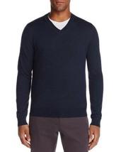 Bloomingdales The Mens Store Sweater XXL 2XL Merino Wool Blue V-Neck NEW B83-07b - $24.13