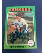 Rick Dempsey  New York Yankees 1975 Topps -  #451Autographed Card - $9.89