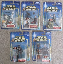 2002 5 Star Wars Attack of the Clones Collection 1 Figures Anakin, Padme... - $74.24