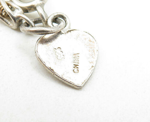 925 Sterling Silver - Vintage Petite Twist Ball Bead Link Chain Bracelet - B5258