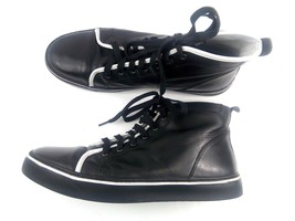 ROCKPORT Men's Sneakers Black/ White Stripe Patent Leather high top Shoe... - $39.42