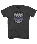 Transformers Men's Stressed Decepticon Short Sleeve T-Shirt, Charcoal He... - $17.77