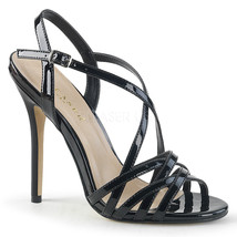 "Sexy AMU13/B 5"" Heel Ankle Strap Strappy Black Sandals Women's Shoes LAR... - $44.95"