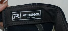 Richardson Contrast Stiching Navy Blue Charcoal Style 275 Baseball Hat Adjustabl image 5