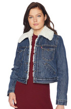 Levi's Women's Button Up Sherpa Lined Styled Denim Jean Trucker Jacket 578940000 image 1