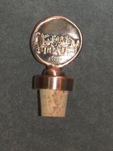 Judaica Bottle Stopper Jerusalem Old City Relief Israel Amulet Charm Copper image 5