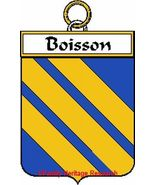 BOISSON French Coat of Arms Print BOISSON Famil... - $25.00