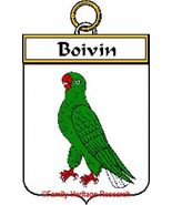 BOIVIN French Coat of Arms Print BOIVIN Family ... - $25.00