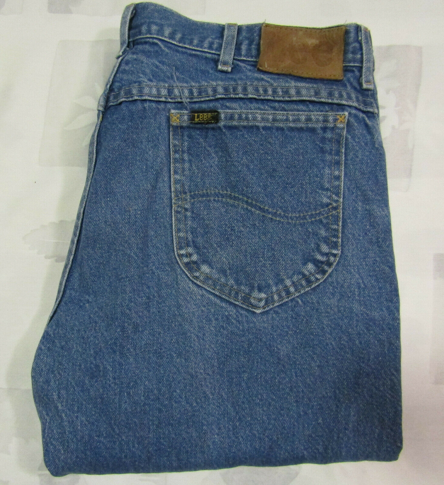 Primary image for Vintage Lee Riders 36 X 31 Mens Blue Jeans Heavy Cotton Denim Made USA 34 X 29 B
