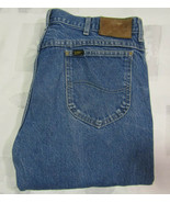 Vintage Lee Riders 36 X 31 Mens Blue Jeans Heavy Cotton Denim Made USA 3... - $24.99