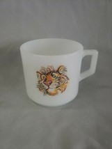 Vintage Kitchen Fire King Glass Milk Glass D Handle EXXON Mugs Esso Tige... - $5.70