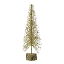 Medium Tabletop Gold Glitter Tree Figurine Christmas Decor - $21.45