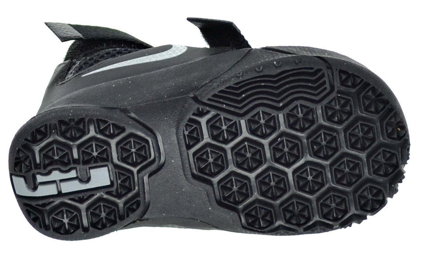 super popular 0eff1 25067 NIKE Lebron Soldier IX PS TD Toddler Shoes sz 5C Black Metallic Silver