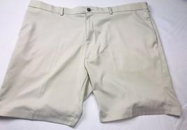ROUNDTREE & YORKE Mens Shorts Size 48 Khaki Tan Beige Casual Golf Cotton - $21.87