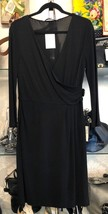 DIANE VON FURSTENBERG DVF Black Long Sleeve Dress Sz 8 $398 - $105.27