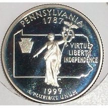 1999-S Clad Proof Pennsylvania State Quarter PF65DC #415 - $5.59
