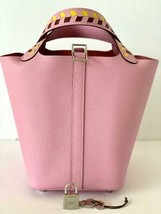 Hermes Picotin Lock 18 Bag Tressage Mauve Sylvestre Palladium NWT 19YRS ... - $4,182.75