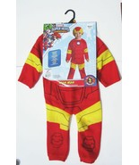IRON MAN Halloween Costume Size Toddler 1-2 Years Jumpsuit NEW NWT Rubies Boy - $21.68
