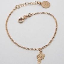 "925 Sterling Rose Silver ""Le Favole"" Bracelet Puppet Pendant, Watch, Satin, Tale - $44.65"