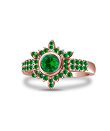 Green Sapphire Womens Engagement Ring 14k Rose Gold Finish 925 Sterling ... - £54.19 GBP