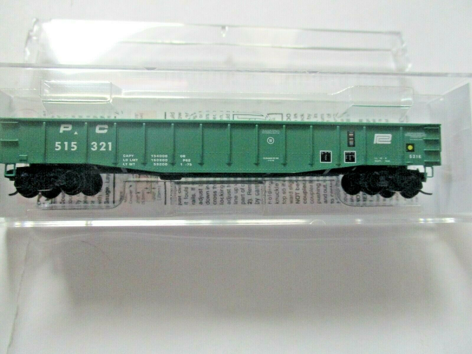 Micro-Trains # 10500350 Penn Central 50' Steel Side Gondola, 14 Panel N-Scale