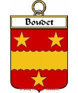 BOUDET French Coat of Arms Print BOUDET Family ... - $25.00