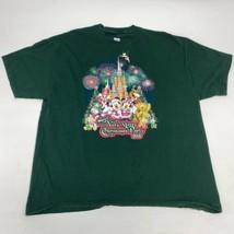 Mickey's 2013 Merry Christmas Party T Shirt Men's 2XL Short Sleeve Green Cotton - $17.99