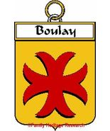 BOULAY French Coat of Arms Print BOULAY Family ... - $25.00