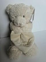Baby Gund Jesus Loves Me Teddy Bear baby Blanket Cream lovey security 11... - $9.89