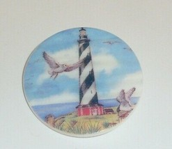 Black & White Lighthouse & Sea Birds on MOP - Mother Pearl Shank Button ... - $11.39
