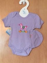 Baby Girl's Rocking Horse Onesie & Hat Set 0-6 Months - $15.00
