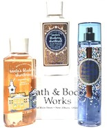 Bath and Body Works Santa's Blueberry Shortbread Body Lotion, Bath Gel Body Mist - $33.17