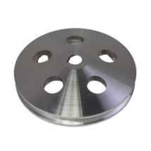 3/8 Saginaw Power Steering Pump Single-Groove Aluminum Pulley For GM (Chrome) image 2