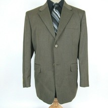 Perry Ellis Men's size 44S Beige Pinstripe Poly Blazer Sport Coat Jacket - $14.85