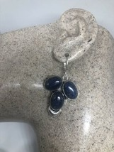Vintage Blue Lapis Lazuli 925 Leverback Earrings - $67.30